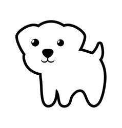 dog little portrait lovely outline vector image vector image