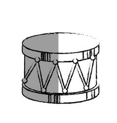 Drum toy musical instrument vector