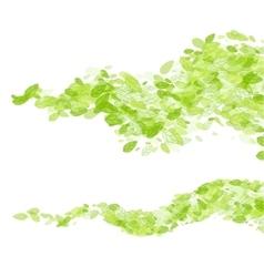 Green leaf wave background vector
