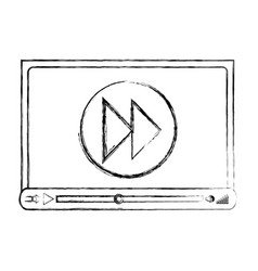 media player template icon vector image