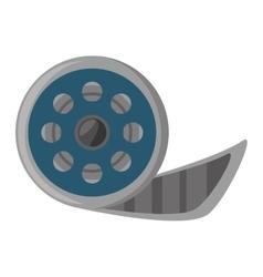 reel film movie wheel icon vector image vector image