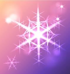 Shining snowflake christmas star vector image vector image