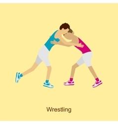 Sport people activities Wrestling vector image vector image