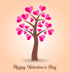 Valentine card with tree vector image vector image