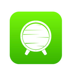 barrel on legs icon digital green vector image vector image