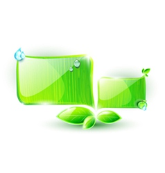 Green speech elements with ecological concept vector image vector image
