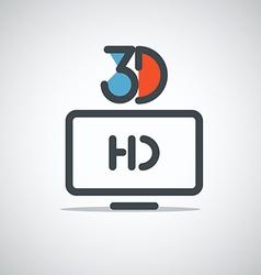 Modern media web icon vector image vector image