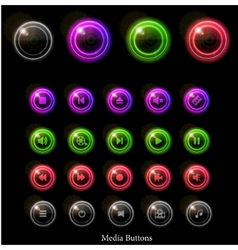 neon web buttons vector image vector image