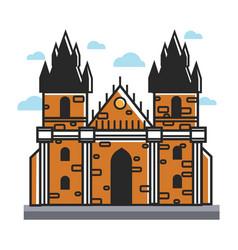 prague castle czech travel popular destination vector image