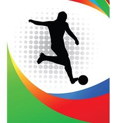 Sportsperson silhouette vector image