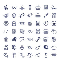 49 meal icons vector