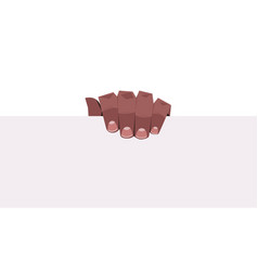 African american human hand holding blank vector
