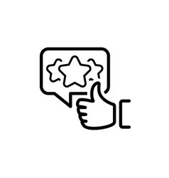 Appreciation line icon vector