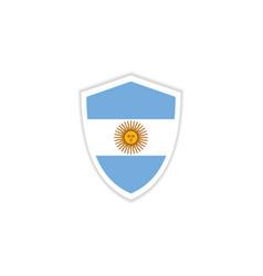 Argentina flag emblem template design vector