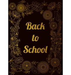 Back to school background golden vector