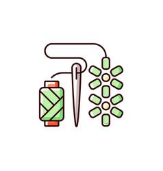 Beadwork rgb color icon vector