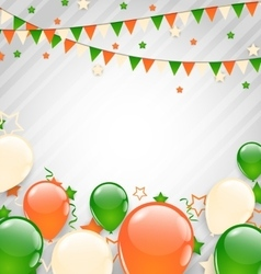 Buntings Flags Garlands and Balloons vector image