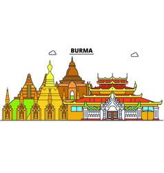 burma line skyline burma vector image