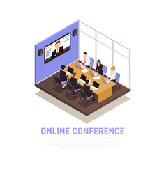 business conference concept vector image