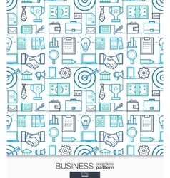 Business strategy wallpaper Marketing seamless vector image