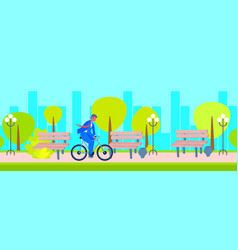 businessman wearing suit riding bicycle to work vector image