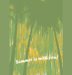 Card flyer the booklet on a summer subject vector
