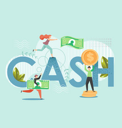 cash money flat style design vector image