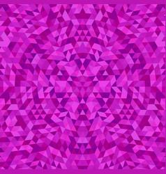 Circular geometric triangle kaleidoscope mandala vector