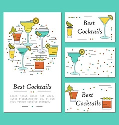cocktail card template vector image