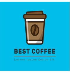 Cofee logotype template vector