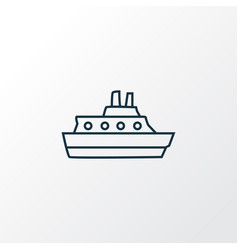 cruise icon line symbol premium quality isolated vector image