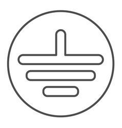 Electrical grounding thin line icon electric vector