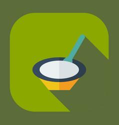 Flat modern design with shadow icons baby porridge vector