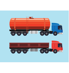 Flat of trucks vector