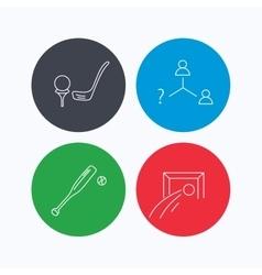 Football golf and baseball icons vector image