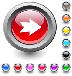 Forward arrow round button vector image