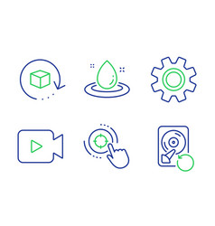 Fuel energy return package and service icons set vector
