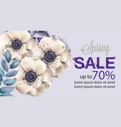 gerbera flowers spring card watercolor vector image