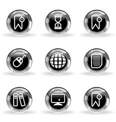 Glossy icon set 22 vector
