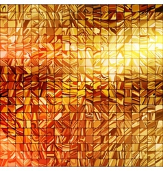 Gold mosaic background EPS 10 vector image