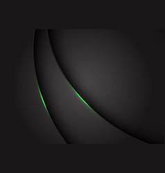 green light on dark grey grey metallic curve vector image