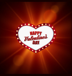 Heart frame Valentines day design vector image