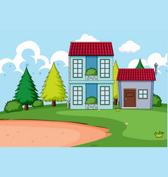 home building in nature vector image