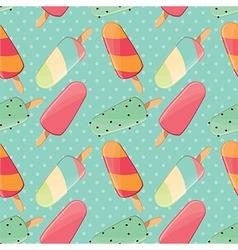 Ice cream seamless pattern summer background vector image