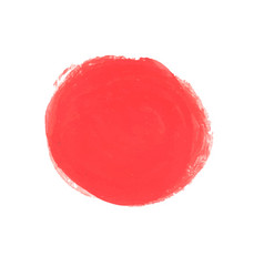 Ink red circle with brush texture vector