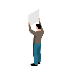 Isometric protest icon vector