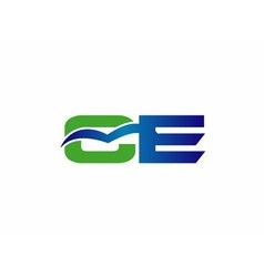 Letter C and e logo vector image