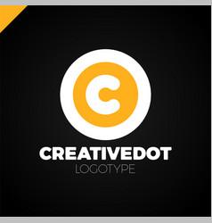 letter c creative circle icon logotype dot vector image
