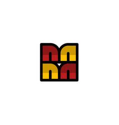 letter mm media creative modern logo vector image