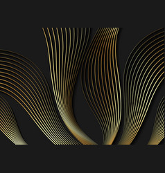 Luxury golden black wallpaper art deco pattern vector